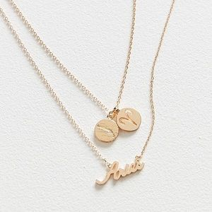 NEW UO Zodiac Layering Charm Necklace Set ARIES